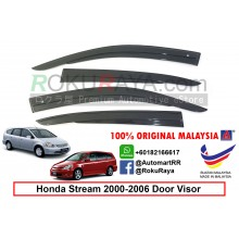 Honda Stream ( 1st Gen ) 2000–2006 AG Door Visor Air Press Wind Deflector (AG Mugen Design)
