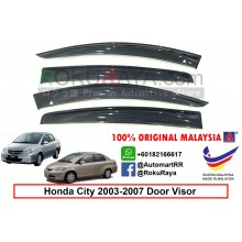 Honda City ( 4th Gen ) 2002–2008 AG Door Visor Air Press Wind Deflector (Big 12cm Width)