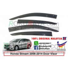 Honda Stream ( 2nd Gen ) 2006-2014 AG Door Visor Air Press Wind Deflector (AG Mugen Design)