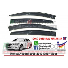 Honda Accord ( 8th Gen ) 2008–2013 AG Door Visor Air Press Wind Deflector (Big 12cm Width)