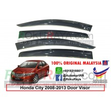 Honda City ( 5th Gen ) 2008-2013 AG Door Visor Air Press Wind Deflector (Big 12cm Width)