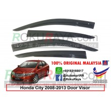 Honda City ( 5th Gen ) 2008-2013 AG Door Visor Air Press Wind Deflector (Ag Mugen Design)