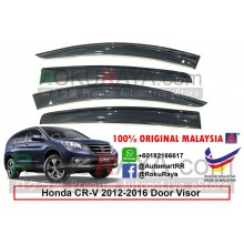 Honda CR-V CRV ( 4th Gen ) 2012–2017 AG Door Visor Air Press Wind Deflector (Big 12cm Width)