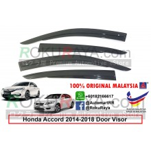 Honda Accord ( 9th Gen ) 2013 AG Door Visor Air Press Wind Deflector (AG Mugen Design)