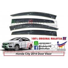 Honda City ( 6th Gen ) 2013 AG Door Visor Air Press Wind Deflector (Big 12cm Width)