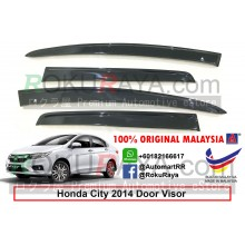 Honda City ( 6th Gen ) 2013 AG Door Visor Air Press Wind Deflector (Flat 10cm Width)