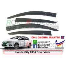 Honda City ( 6th Gen ) 2013 AG Door Visor Air Press Wind Deflector (AG Mugen Design)