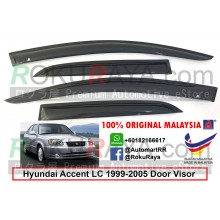 Hyundai Accent RXS RX-S LC (2nd Gen) 1999-2005 AG Door Visor Air Press Wind Deflector (Small 7cm Width)