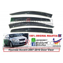 Hyundai Accent MC (3rd Gen) 2005-2010 AG Door Visor Air Press Wind Deflector (Big 12cm Width)