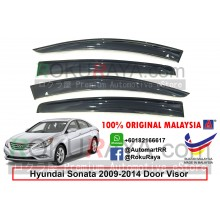 Hyundai Sonata YF (6th Gen) 2009-2014 AG Door Visor Air Press Wind Deflector (Big 12cm Width)