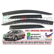 Hyundai Elantra MD UD (5th Gen) 2012-2015 AG Door Visor Air Press Wind Deflector (Medium 8cm Width)