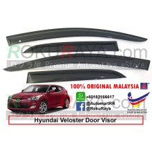 Hyundai Veloster AG Door Visor Air Press Wind Deflector (Medium 8cm Width)