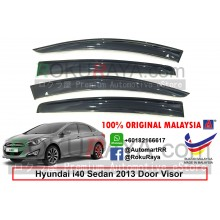 Hyundai i40 Sedan 2012 AG Door Visor Air Press Wind Deflector (Big 12cm Width)