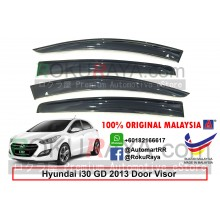 Hyundai i30 Hatchback GD (2nd Gen) 2012-2017 AG Door Visor Air Press Wind Deflector (Big 12cm Width)