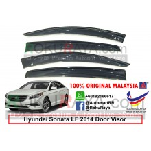 Hyundai Sonata LF (7th Gen) 2014 AG Door Visor Air Press Wind Deflector (Big 12cm Width)