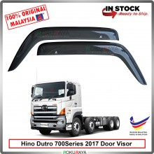 Hino Dutro 700Series 2017 AG Door Visor Air Press Wind Deflector (Big 12cm Width)
