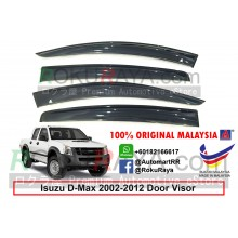 Isuzu D-Max Dmax RC (1st Gen) 2002-2012 AG Door Visor Air Press Wind Deflector (Big 12cm Width)