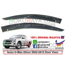 Isuzu D-Max Dmax RA 2Door (1st Gen) 2002-2012 AG Door Visor Air Press Wind Deflector (Big 12cm Width)