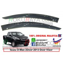 Isuzu D-Max Dmax 2Door (2nd Gen) 2013 AG Door Visor Air Press Wind Deflector (Big 12cm Width)