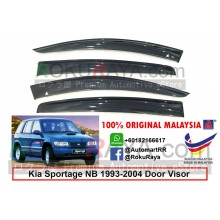 Kia Sportage NB (1st Gen) 1993-2004 AG Door Visor Air Press Wind Deflector (Big 12cm Width)