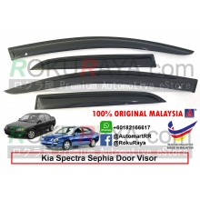 Kia Spectra / Sephia (Sedan and Hatchback) AG Door Visor Air Press Wind Deflector (Small 7cm Width)