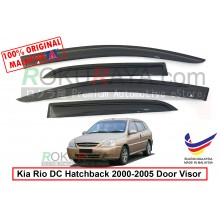 Kia Rio DC Hatchback (1st Gen) 2000-2005 AG Door Visor Air Press Wind Deflector (Small 7cm Width)