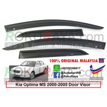 Kia Optima MS (1st Gen) 2000–2005 AG Door Visor Air Press Wind Deflector (Small 7cm Width)