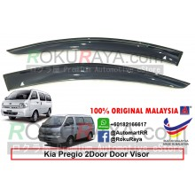 Kia Pregio AG Door Visor Air Press Wind Deflector (Big 12cm Width)