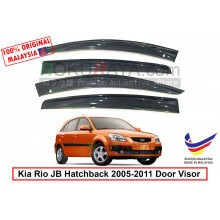 Kia Rio JB (2nd Gen) 2005-2011 AG Door Visor Air Press Wind Deflector (Big 12cm Width)