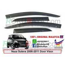 Naza Sutera 2006-2011 AG Door Visor Air Press Wind Deflector (Small 7cm Width)