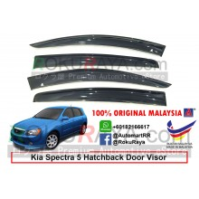 Kia Spectra 5 Hatchback (2nd Gen) 2004–2006 AG Door Visor Air Press Wind Deflector (Big 12cm Width)