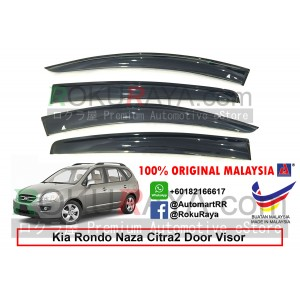 Kia Rondo Naza Citra 2 UN (2nd Gen) 2006-2013 AG Door Visor Air Press Wind Deflector (Big 12cm Width)