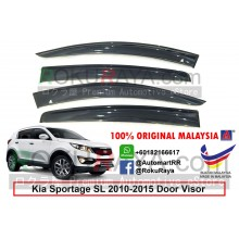 Kia Sportage SL (3rd Gen) 2010-2015 AG Door Visor Air Press Wind Deflector (Big 12cm Width)