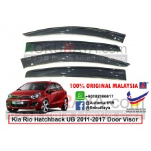 Kia Rio UB Hatchback (3rd Gen) 2011-2017 AG Door Visor Air Press Wind Deflector (Big 12cm Width)