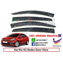 Kia Rio K2 Sedan UB (3rd Gen) 2016 AG Door Visor Air Press Wind Deflector (Big 12cm Width)