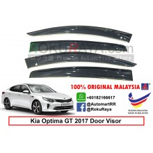 Kia Optima GT (4th Gen) JF 2017 AG Door Visor Air Press Wind Deflector (Big 12cm Width)