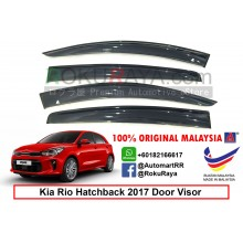 Kia Rio Hatchback YB (4th Gen) 2017 AG Door Visor Air Press Wind Deflector (Big 12cm Width)