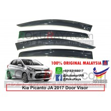 Kia Picanto JA (3rd Gen) 2017 AG Door Visor Air Press Wind Deflector (Big 12cm Width)