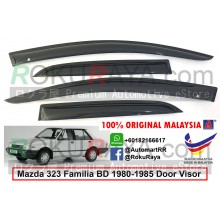 Mazda 323 Familia BD (4th Gen) 1980-1985  AG Door Visor Air Press Wind Deflector (Small 7cm Width)