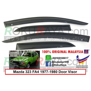 Mazda 323 Familia FA4 (3rd Gen) 1977-1980  AG Door Visor Air Press Wind Deflector (Small 7cm Width)