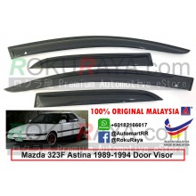 Mazda 323F Astina 1989-1994  AG Door Visor Air Press Wind Deflector (Small 7cm Width)
