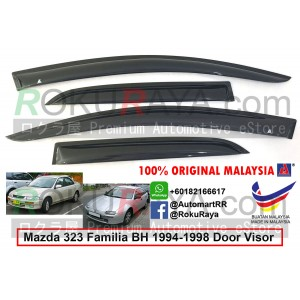 Mazda 323 Familia BH (7th Gen) 1994-1998  AG Door Visor Air Press Wind Deflector (Small 7cm Width)