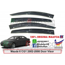 Mazda 6 Atenza CG1 (1st Gen) 2002-2008 AG Door Visor Air Press Wind Deflector (Big 12cm Width)