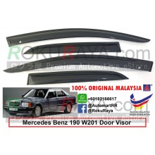 Mercedes Benz 190 W201 1984-1993 AG Door Visor Air Press Wind Deflector (Small 7cm Width)