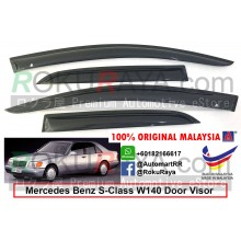 Mercedes Benz (S280 ONLY) W140 1991-1998 AG Door Visor Air Press Wind Deflector (Small 5cm Width)