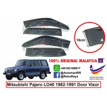 Mitsubishi Pajero LO40 (1st Gen) 1982–1991 AG Door Visor Air Press Wind Deflector ( Extra Big 16cm Width)