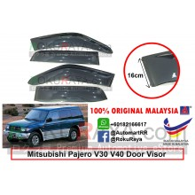 Mitsubishi Pajero V6 V31 / V32 / V34 / V44WG (2nd Gen) 1994-1999 AG Door Visor Air Press Wind Deflector (Extra Big 16cm Width)