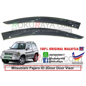 Mitsubishi Pajero IO 2Door 1998-2007 AG Door Visor Air Press Wind Deflector (Big 12cm Width)