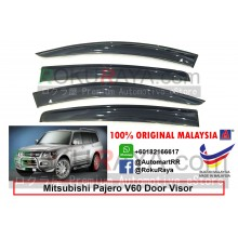 Mitsubishi Pajero V60 (3rd Gen) AG Door Visor Air Press Wind Deflector ( Big 12cm Width)