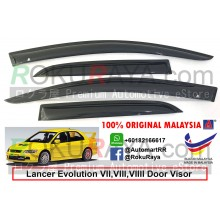 Mitsubishi Lancer Evolution VII,VIII,VIIII AG Door Visor Air Press Wind Deflector (Small 7cm Width)